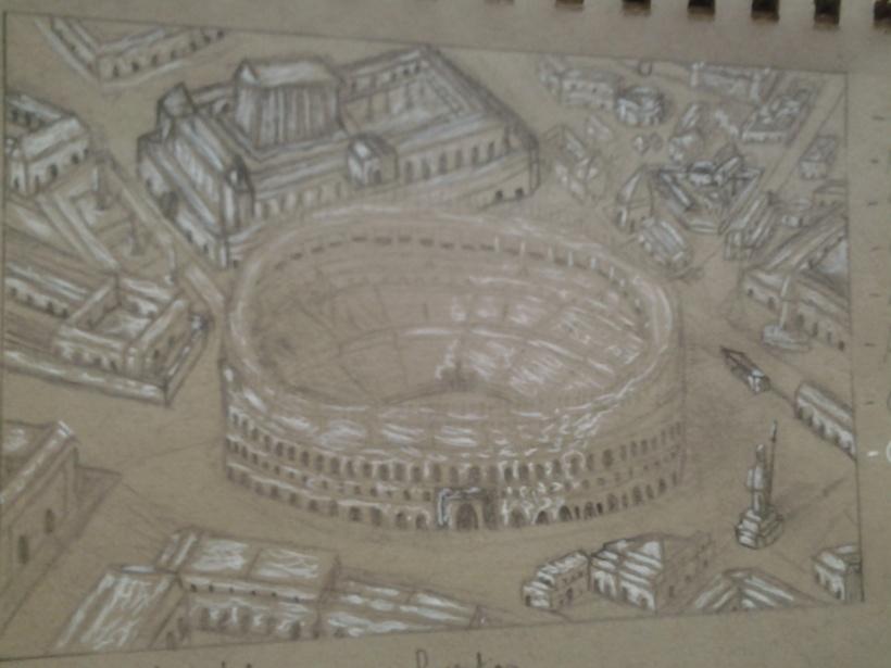 Rome birds eye view.