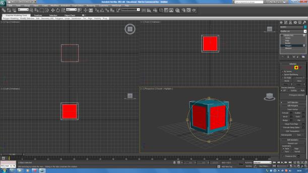 3dsmax cube progress