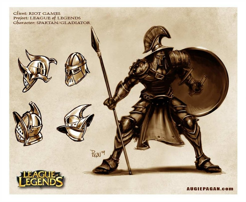 Character Design Challenge Gladiator : Creative futures adaptation early character design