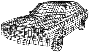 ford cortina wireframe