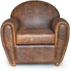 worn leather sofa