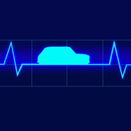 just heartbeat monitor with line gradient behind